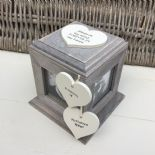 Shabby Chic In Memory Of HUSBAND Or ANY NAME Rustic Wood Personalised Photo CUBE